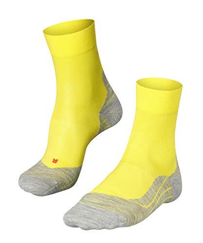 FALKE Herren Laufsocken RU4, wadenlange Running Strümpfe mit Baumwolle, Sport - Socken mit mittelstarker Polsterung, Antiblasen, 1 Paar, Gelb (Sulfur 1084), 46-48