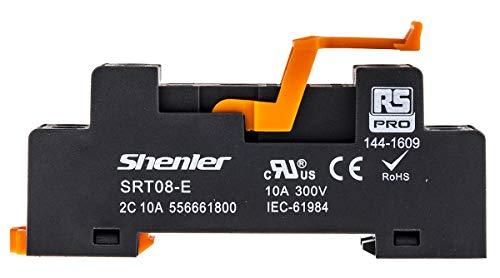 RS PRO Relaissockel zur Verwendung mit RFT-Schnittstellenrelais, 8 -Kontakt, DIN-Schienen, 300V