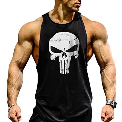 YeeHoo Camisetas de Gym Elástica de Fitness sin Mangas Tank Top Gym para Hombre Culturismo Muscle