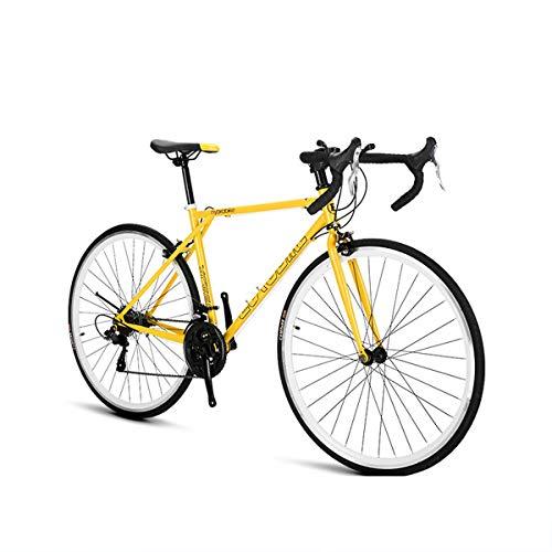 HBNW 700C Carbon Rennrad Fahrrad, Shimano T Z50 21-Fach Kettenschaltung, 27 Zoll Retro Rennrad Fahrrad Race Bike