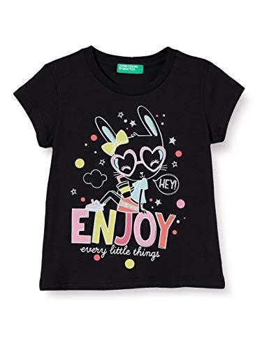 United Colors of Benetton Baby-Mädchen T-Shirt Pullunder, Schwarz (Nero 100), 86/92 (Herstellergröße: 2y)