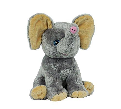 "BEAREGARDS.COM Personal Recordable Talking Teddy Bear / Baby Heartbeat 8"" Elephant with 20 sec Digital Recorder"