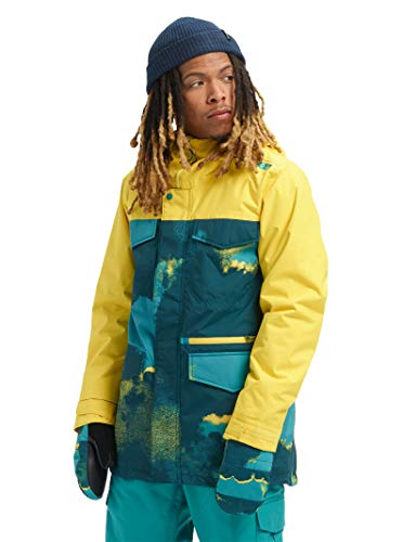 Burton Mens Covert Jacket Slim, 92 Air/Maize, X-Small