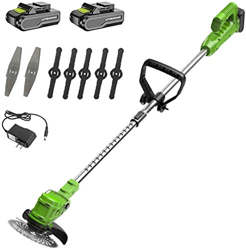 For Sale! JNWEIYU Trimmer/Edger/Mini Mower for Tree Branch Hedges DIY Lawn Garden Care Tool,Cordless...