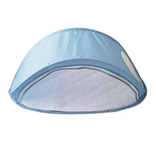 Krankenhaus Neugeborenes Schlafen Bett, Spielplatz Kindergarten im Freien Faltbare Krippe - Camping Picknick Familie Outing Schätzchenaufnahmevorrichtung (Color : Blue, Size : 115 * 59cm)