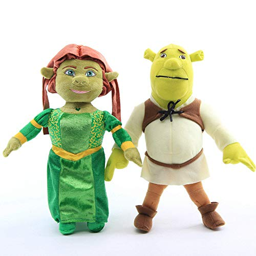 shenlanyu Juguete De Peluche 2 Unids/Set 33 Cm Anime Princesa Fiona Shrek Green Ogre Peluches Muñeca Tamaño Grande Bebé Niños Regalo De Cumpleaños