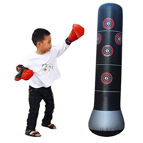 Aufblasbarer Stress Punch Tower Punching Speed Bag Fitness Punching Tower Boxsack Stand Power Tower Boxen MMA Zieltasche für Kinder Teenager Erwachsene
