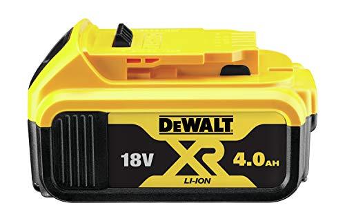 DeWalt Ersatz-Akku 18,0 Volt/ 4,0 Ah XR Li-Ion (kompatibel mit allen 18,0 Volt XR Akku-Maschinen von DeWalt, LED Akku Ladestandsanzeige), DCB182