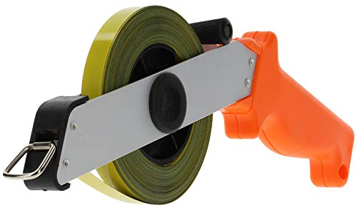 Meetlint lengte 30 m meetlint breedte 13 mm met anti-slip softgrip rolbandmaat rollenmaat