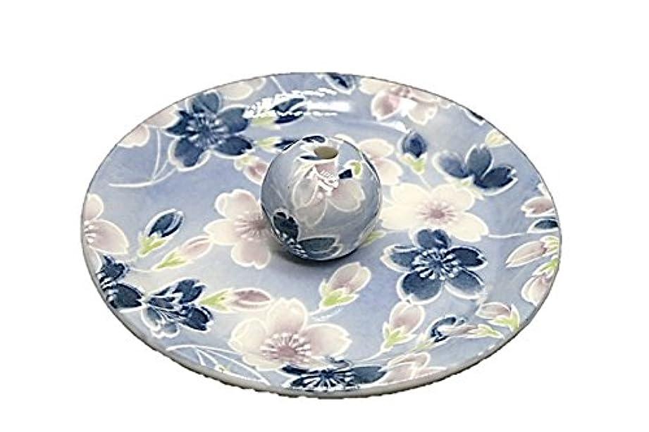 伝染病グラフィックボンド9-7 青染桜 9cm香皿 お香立て お香たて 陶器 日本製 製造?直売品