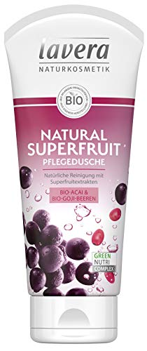 lavera Natural Superfruit Pflegedusche Bio Acai & Goji Beeren ∙ Superfruitextrakte ∙ Vegan Bio Pflanzenwirkstoffe Naturkosmetik Natural & innovative Duschgel 2er Pack(2x200 ml)