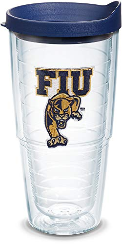 Tervis FIU Panthers Logo Tumbler with Emblem and Navy Lid 24oz, Clear