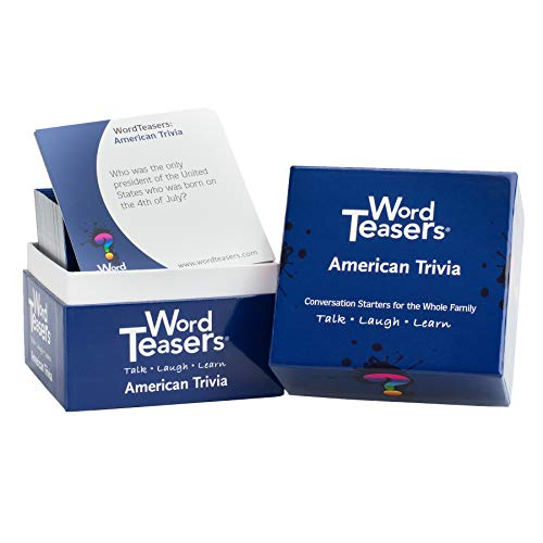 WORD TEASERS Trivia Conversation Starters  Fun Trivia Card Game for Families Couples Parties amp Travel  Flashcards for Adults and Children Ages 8  150 Questions American Trivia Edition