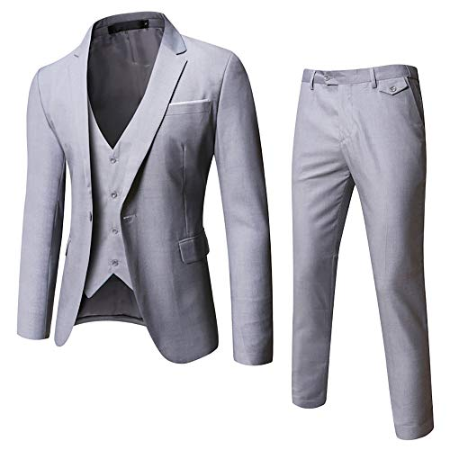 OFFSTREAM Plain Colored Suits for Men - Costumes Include Jacket Pants and Tie