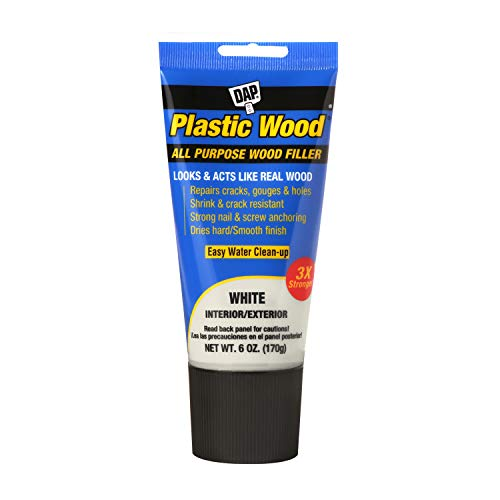 DAP 00585 Latex 6oz, White All Purpose Plastic Wood Filler, 6 Oz