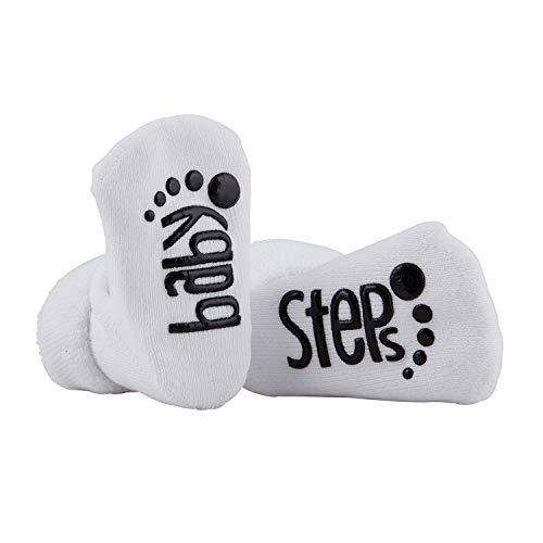 Stephan Baby Calcetines antideslizantes con bonitos dichos, escalones de bebé, se adapta a 3 a 12 meses