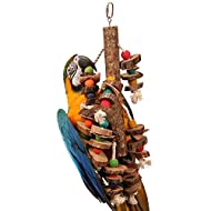 Natural Stacker Large Wood Rope Parrot Toy Macaw