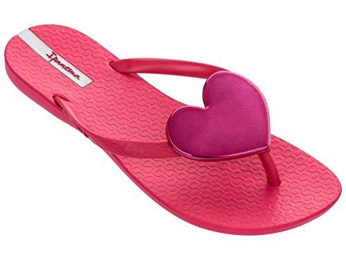 Ipanema Wave Heart - Sandalias para mujer, color negro y dorado, color Rojo, talla 35/36 EU