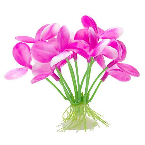 Marina Betta Pink Orchid Aquarium Plastic Plant, 2.75-Inch
