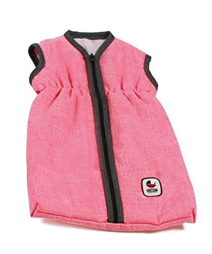 Bayer Chic 2000 792 41 Puppen-Schlafsack, Melange anthrazit-pink
