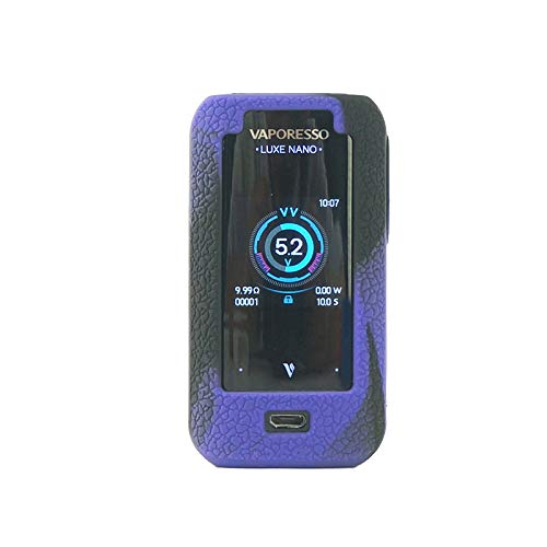 Rayley Protective Silicone Case for Vaporesso Luxe Nano Mod Kit Case Skin Cover Sleeve Wrap Shield (Black Purple)
