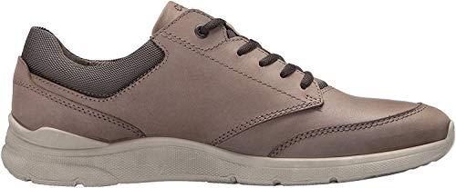 ECCO Irving, Zapatos Cordones Derby Hombre, Gris Dark