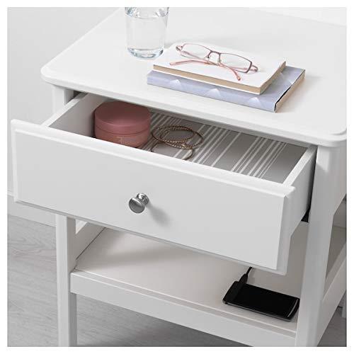 DiscountSeller TYSSEDAL Nachttisch weiß 51x40 cm langlebig und pflegeleicht Beistelltische Couchtisch Beistelltisch Tisch & Schreibtisch Möbel umweltfreundlich