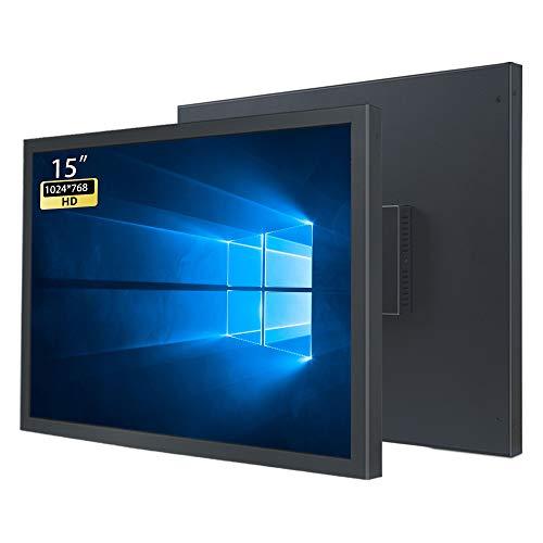 WIFIGDS 15 Zoll HD Monitor (1024 × 768), 60 Hz (HDMI+VGA,DC,12V-3A) LCD Computer Monitor of TN Panel Wandmonitor für die Sicherheitsüberwachung auf industrieller Ebene/Tragbarer Spielmonitor