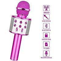 LetsGO toyz Regalos para Niña de 4 a 12 Años, Microfono Karaoke Bluetooth Juguetes para Niños de 4-12 Años Regalos Niña Dinámicos Juguetes para Niña de 4 a 12 Años Regalos Fiesta Niños - Lila