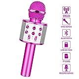 LetsGO toyz Bluetooth Microfono Karaoke per Bambini, Giocattolo Regalo Bambina 4-16 Anni Giocattoli Bambina 5-16 Anni Regali per Bambini Ragazza 4-15anni Regali di Natale Bambini
