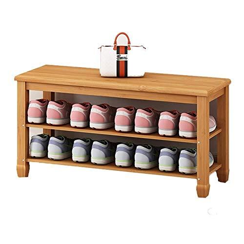 Eenvoudige schoenenrek voor thuis Eenvoudige Multi-layer Shoe Veranderen Kruk Shoe Storage Rack Bamboo schoenenkast Dustproof gemakkelijk schoon te maken Hoge capaciteit (Size : 50cm)