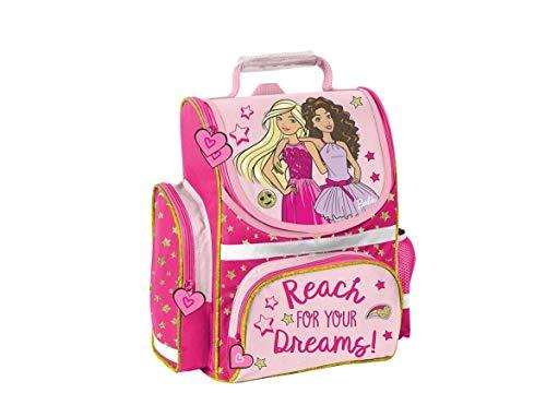 Barbie Schulranzen ergonomischer Ranzen Tornister Schultasche rosa Mädchen Grundschule inkl. Regenhülle