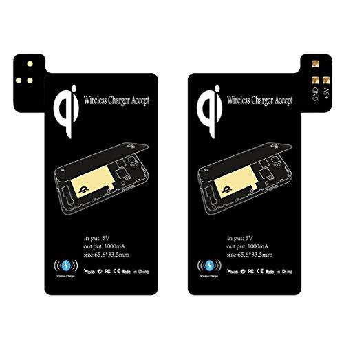 sunnymi Ultradünnes Kabelloses Laden Empfänger Qi Wireless Charging Receiver Unterstützung Smart Case