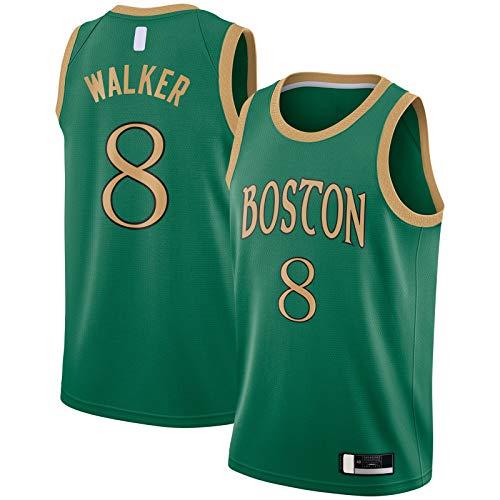 FITIY Kemba Camiseta de baloncesto Celtics Ropa Boston de manga corta Walker Traning Jersey #8 2019/20 Acabado Swingman Jersey Verde - City Edition-L