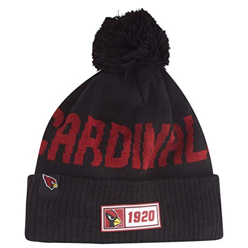 New Era Arizona Cardinals Beanie Knit NFL 2019 Sideline Road 1920 Black/Red - One-Size