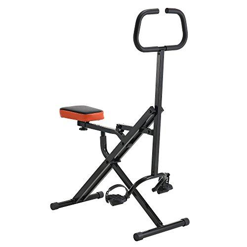 [pro.tec] Bicicletta per allenamento da casa hometrainer - ribaltabile e poco ingombrante - Fitness-Bike