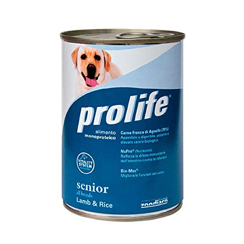 Prolife Senior Agnello e Riso Umido per Cani - 6 lattine da 400 gr