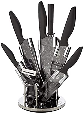 Ross Henery Professional Knives, 8 Piece kitchen knife set in stylish Acrylic Block set