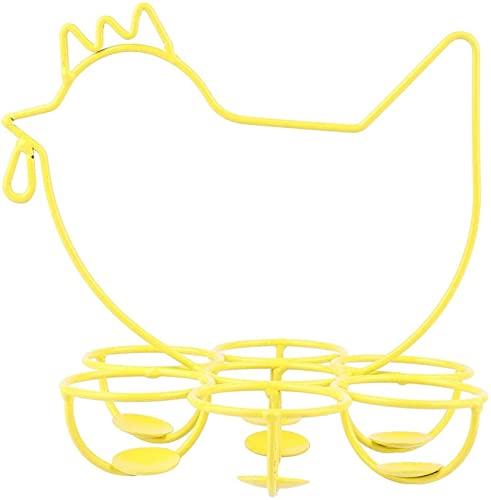 XINGDONG Estante de distribuidor metálico en forma de huevo en forma de pollo, canasta de huevos, bandeja de almacenamiento de huevos, accesorios de tiro, bastidor de almacenamiento en forma de gallin