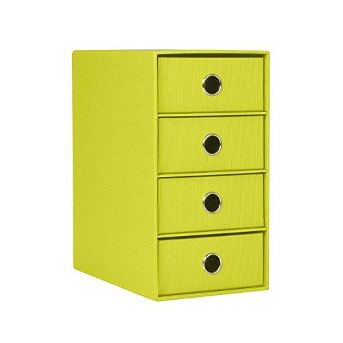 Rössler 1524452324 - S.O.H.O. 4er Schubladenbox für DIN A5, mit Griffloch, limette