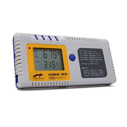 coxfox(コックスフォックス) 二酸化炭素濃度計 三密を防ぐ、お店、会議室、教室、塾などの換気の目安 GC-02