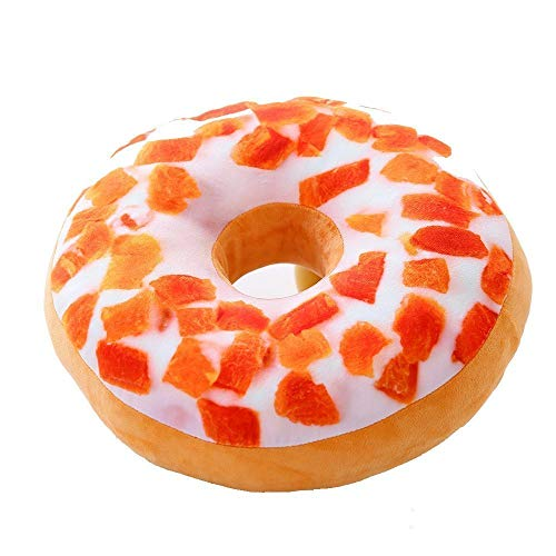 L.BAN Delicous Doughnuts Dounuts Pillows Plush Ring Seat Cushions Novelty Gift and Decorations (Mango)