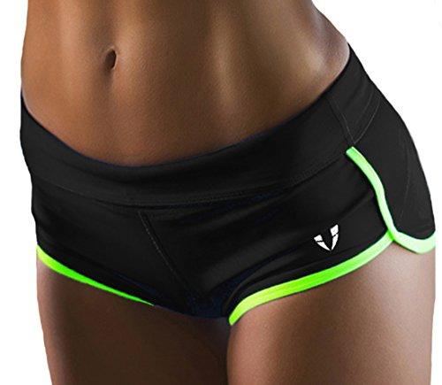 FIRM ABS Women's Low Cut Shorts Black/Fluorescent Green L