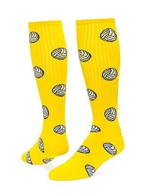 Red Lion Volleyball Knee High Sock (Neon Yellow - Medium)