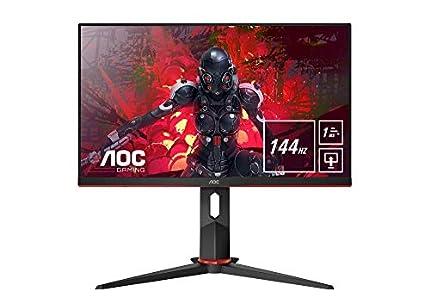"""AOC Monitor Gaming 24G2U/BK- 24"""" Full HD, 144Hz, 1ms, IPS, FreesSync Premium, 1920x1080, 250 cd/m, D-SUB, HDMIx2, Displayport 1x1.2"""