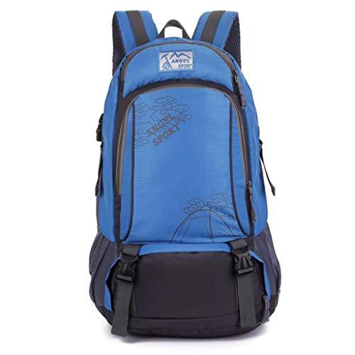 SHRAY 36-55L Travel Backpack Sports Men and Women Backpacks Outdoor Leisure Bag General Purpose High Capacity Multifunction Waterproof Blue