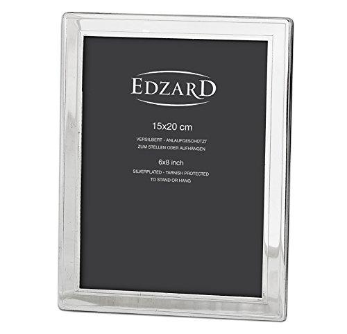 EDZARD Fotorahmen Nardo, edel versilbert, anlaufgeschützt (Für Foto 15 x 20 cm)