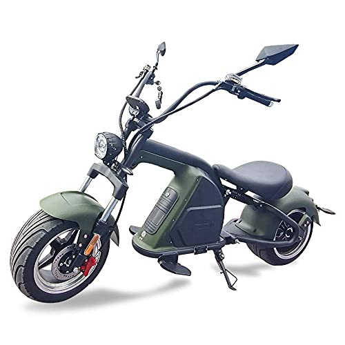 Mada M8 City Coco Chopper - Patinete eléctrico, color caqui