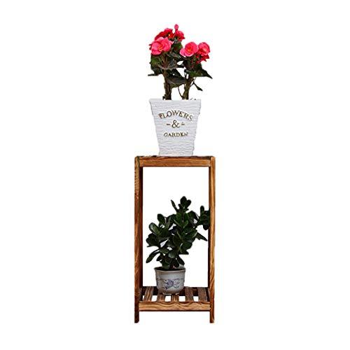 Étagère Xuan - Worth Having Support de Fleur Salon en Bois Massif Plancher intérieur carrée Radis Vert Viande Suspendue Plateau de Pot de Fleur en Bois d'orchidée, Carbonisé Anti-corrosif