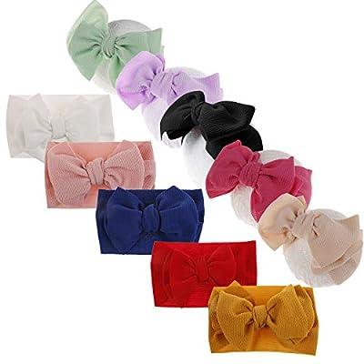 Baby Girl Elastic Headbands Newborn Infant Toddler Big Bows Hairbands Children Soft Headwrap Hair Accessories by